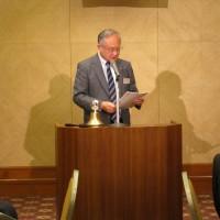 いつも真面目な理事会報告 田口幹事長